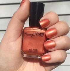 Tangerine Nail Polish, Coral Nail Polish, Orange Nail Polish, Shimmer Nail Polish, Orangey Nail Polish, Summer Nail Polish
