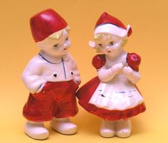 These cute vintage salt & pepper shakers were on the cover of my book, Hot Kitchen & Home Collectibles pf the 30s, 40s, 50s. http://cdiannezweig.blogspot.com/