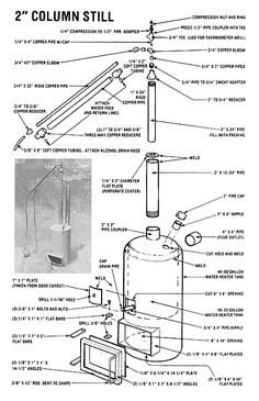 064 homemade still - diagram, 2 inch Moonshine Still Plans, How To Make Moonshine, Homemade Alcohol, Homemade Liquor, Beer Brewing, Home Brewing, Homemade Still, Homemade Moonshine, Moonshine Recipe