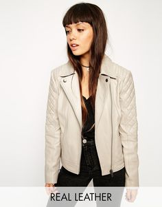 ASOS+Leather+Biker+Jacket+With+Multi+Quilt+Detail