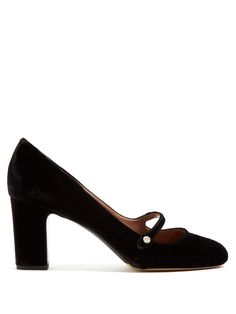 Tabitha Simmons Kira velvet Mary-Jane pumps