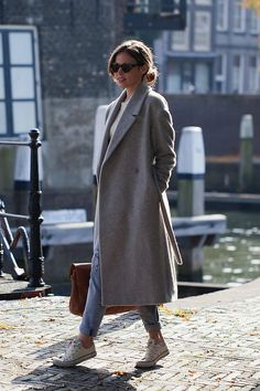 Christine R. - Karen Walker Sunglasses, Cos Coat, Converse Sneakers - A grey area | LOOKBOOK