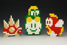 Lego Spikey, Lakitu and Fishy by BrickBum Lego Mario, Lego Super Mario, Lego Projects, Projects To Try, Lego Van, Fun Crafts, Crafts For Kids, Lego Wedding, Lego Videos