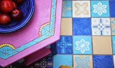 Janice Issitt Life Style Painters In Residence project. Moroccan bedroom, mandala, screen, bed and tiles all hand painted by me. Annie Sloan Paint Colors, Annie Sloan Chalk Paint, Paint Colours, Moroccan Inspired Bedroom, Moroccan Bedroom, Moroccan Decor, Moroccan Style, Napoleonic Blue, Using Chalk Paint