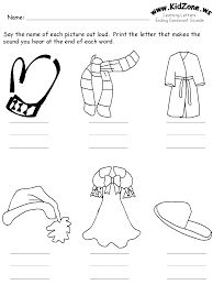 letter a worksheet kindergarten winter clothing colouring pages printables templets and 7646