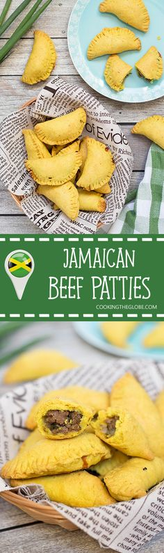These flaky Jamaican Beef Patties are filled with a spicy ground beef mixture…