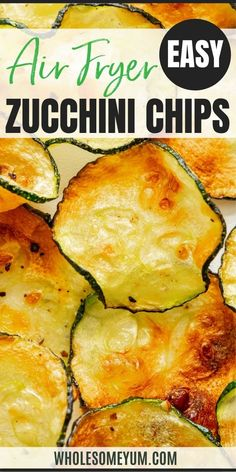 Learn how to make zucchini chips in the air fryer in just 10 minutes! These air fryer zucchini chips make a healthy, salty, and crispy snack. #wholesomeyum Gluten Free Snacks, Keto Snacks, Keto Diet For Beginners, Recipes For Beginners, Easy Chips, Zucchini Chips Recipe, Low Carb Side Dishes, Keto Food List, Food Test