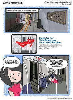 Let's Dance - http://poledancingadventures.com/2017/04/lets-dance/ Art by Leen Isabel %excerpt% #poledancingadventures #leenisabel #poledancing #Slice-Of-Life #StreetPole www.leenisabel.com www.poledancingadventures.com www.facebook.com/LeenIsabelArtist/