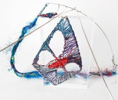 Red blue butterfly wing necklace, wire sculpture art gift for her, interchangeable jewelry Blue Butterfly, Butterfly Wings, Modern Hippie Style, White Spirit, Wing Necklace, Spiritual Jewelry, Handmade Wire, Unique Necklaces, Sculpture Art
