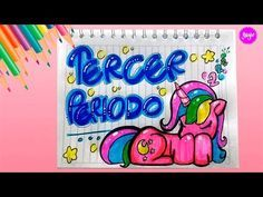 IDEA HERMOSA PARA DIBUJAR TERCER PERIODO - Unicornio Kawaii - Cómo marcar cuadernos-Yaye - YouTube Decorate Notebook, School Notes, Study Notes, Elsa Frozen, Cover Pages, Art School, Smurfs, Doodles, Kawaii