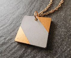 Geometric necklace minimalist jewelry concrete modern