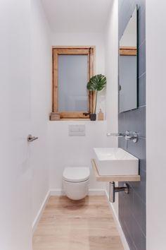 Small Bathroom Layout, Small Bathroom Renovations, Tiny Bathrooms, Upstairs Bathrooms, Laundry In Bathroom, Modern Bathroom, Toilet Room Decor, Small Toilet Room, Restroom Design