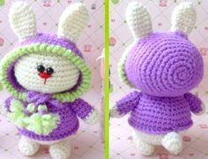 вязание игрушки Зайка в капюшоне — DIYDIY.ru вязание: описание, схемы, видео, мастер классы