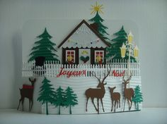 Kit carte 3D maison  décorer pour Noël à réaliser vous même