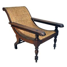 British Colonial Plantation Chair | From a unique collection of antique and modern lounge chairs at http://www.1stdibs.com/furniture/seating/lounge-chairs/