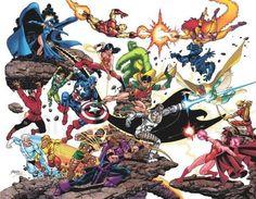 titans vs. avengers: George Pérez