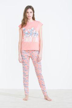 Women´secret - Pijama largo de algodón 'Smurf Fun'