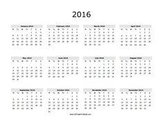 2016 calendar, Calendar and Calendars 2016 on Pinterest