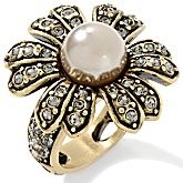 "Heidi Daus ""Art in Bloom"" Crystal-Accented Flower Ring"