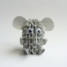 Etsy の Cute 3D Origami Elephant by OlygamiCrafts