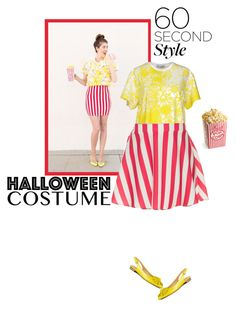 """60 Second Style: Last Minute Halloween Costume"" by marion-fashionista-diva-miller ❤ liked on Polyvore featuring LO not EQUAL, Show Me Your Mumu, Isaac Mizrahi, halloweencostume and 60secondstyle"