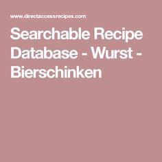 Searchable Recipe Database - Wurst - Bierschinken