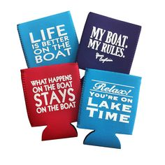Boat Can Koozies, Boat Can Coolers