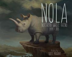 "Scott Musgrove Honors ""Nola"" the White Rhino in New Painting 