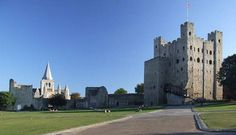 Rochester Castle -- The 12th-century keep or stone tower, which is the castle's most prominent feature, is one of the best preserved in England or France.