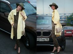 Zara Hat, Vintage Trench, Calliope Blouse, Bershka Pants, Bershka Shoes, Roccobarocco Bag