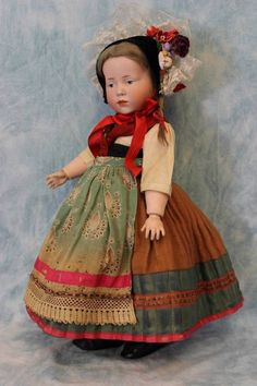 "c.1910 15"" K*R Kammer and Reinhardt 101 Marie German Character Doll Original"