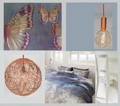 Mooie kleuren voor de slaapkamer Histor Winter - Rationeel en Koper voor de verlichting