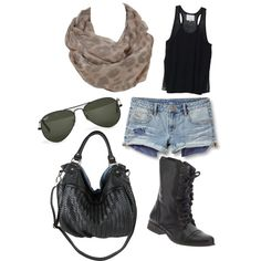 rocker chick, created by ssedlacek on Polyvore ----this is super cute!