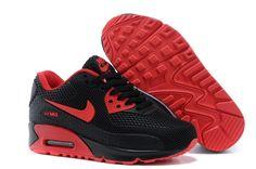 half off f5552 b1fac Nike Air Max 90 KPU TPU Noir Chaussures De Sport Rouge Nike Kids Shoes, Kids