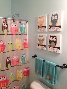 Hometalk :: Kids Owl Bathroom Art