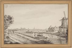 La Fargue (1765). Gezicht op leiden langs de Vliet.