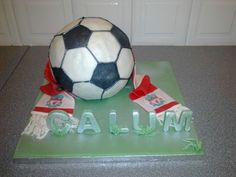 Calum Liverpool Football Club, Themed Cakes, Soccer Ball, Amazing Cakes, Cupcake Cakes, Cake Decorating, Birthday, Products, Theme Cakes