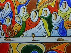 Resultado de imagem para imagens de pintura santa ceia estilizada