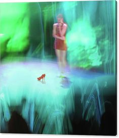 """Limited Time Promotion: """"Inside The Rainbow"""", Stretched Canvas Print, Art by Martina Rall  Experimental photography, surreal collage #thewizardofoz  #dorothy #redshoes"""