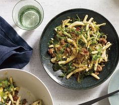 Made this and it's delicious. Making it again tonight! Pasta With Sausage, Arugula, and Crispy Bread Crumbs | Easy Weeknight Dinners for November | Real Simple