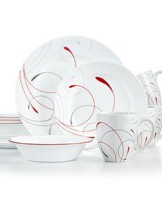 Corelle Splendor Set, Service for 4 - Dinnerware - Dining & Entertaining - Macy's Bridal and Wedding Registry Corelle Ware, Corelle Patterns, Paris Kitchen, Pretty Wedding Cakes, Bridal Registry, Kitchenware, Tableware, Everyday Dishes, Dinner Sets