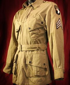 Authentic WWII US Army 101st Airborne Paratrooper M-1942 Jacket