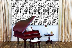 Our Burlesque #Wallpaper, ideal for creating a sexy boudoir. Samples from £2.50. www.Dupenny.com ............. #vintage #retro #wallart #wallcovering #wallpaper #madeinuk #dupenny #vintageinspired