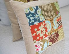 Nine Patch Quilted Pillow 2 | Flickr - Photo Sharing!