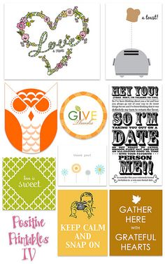 Free Positive Printables Round Up3 from Kind Over Matter