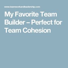 My Favorite Team Builder – Perfect for Team Cohesion