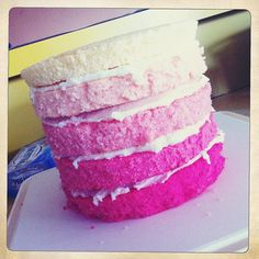 Making A Rainbow Cake by retro mummy, via Flickr