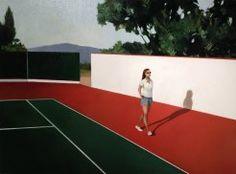 Las pinturas de Elisabeth McBrien son una pura relajación. Incluso una parada en el tiempo de ocio. Con una composición muy sencilla y colores planos, la artista estadounidense consigue trasladarnos a las mansiones de verano de las familias de clase alta. Muy interesada en describir los espacios que forman nuestra personalidad, los que habitamos y frecuentamos.