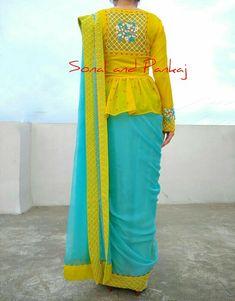 Sonal & Pankaj - We Design Future Best Blouse Designs, Half Saree Designs, Saree Blouse Neck Designs, Choli Designs, Bridal Blouse Designs, Stylish Blouse Design, Stylish Dress Designs, Saree Wearing Styles, Sleeves Designs For Dresses