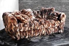 Fur sofa